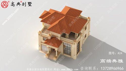 213平方米带车库的新农村三层别墅设计(含效果图