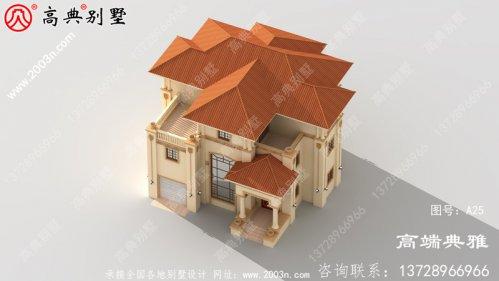 196平方米3层豪华欧式别墅设计图