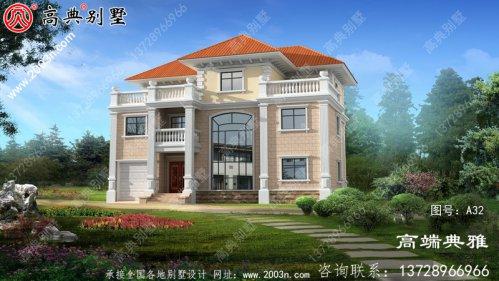 新农村复式别墅的设计图和效果图立面清新独特