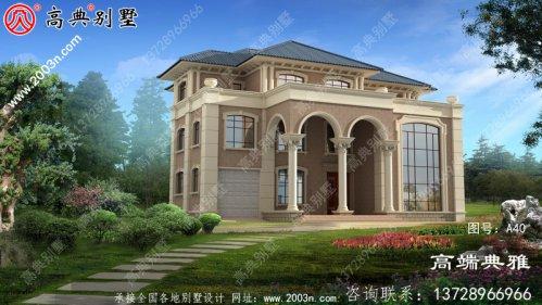 320平方米大户型豪华欧式三层住宅设计图纸及效