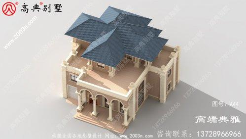 新农村的三层独栋别墅设计奢华时尚。