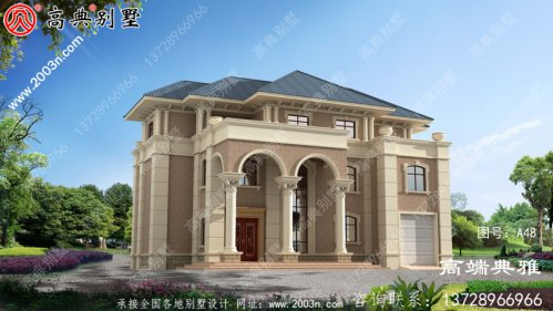 三层欧式别墅设计方案,完整设计图+效果图