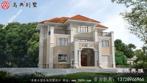新农村一整套三层别墅占地182平方米
