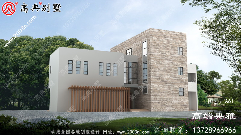 202平方米大户型现代三层别墅房屋设计图