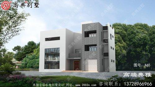 私人定制现代三层别墅设计图包括外观效果图