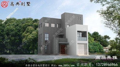 153平方四层别墅住宅设计图,包括外观效果图、