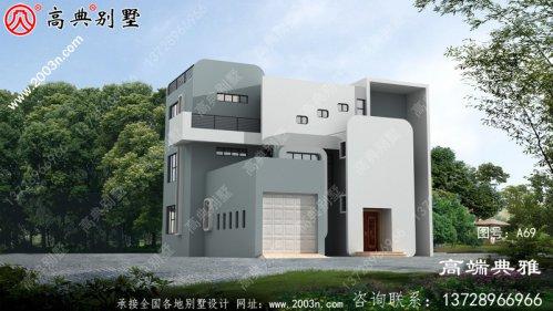 三层现代别墅房屋设计图,带外型