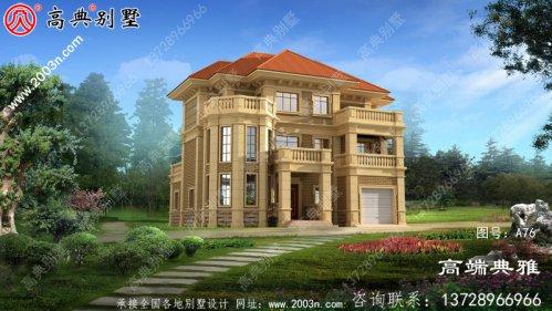 乡村欧式房设计图,乡村轻奢主义型三层独栋别