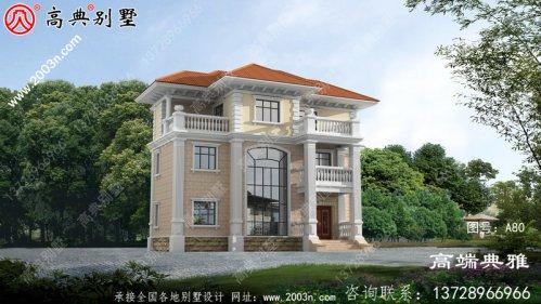 126平方农村三层别墅设计CAD图纸及效果图