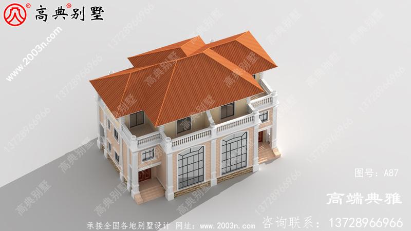 农村建设三层房屋设计图纸,带外型设计效果图