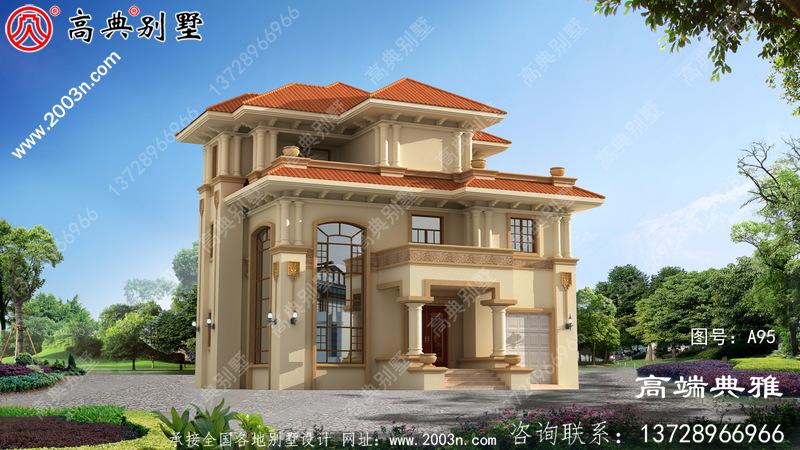 农村自建欧式三层住宅设计图及效果图