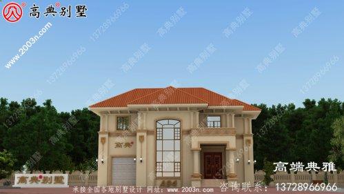 欧式风格二层别墅设计图,外观时尚、大气