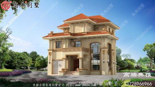 三层别墅自建房样式,简欧装修风格