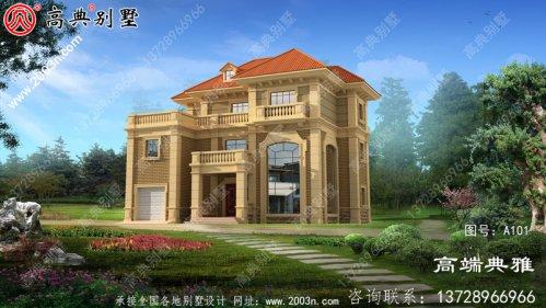 农村三层法式建筑设计及效果图屋