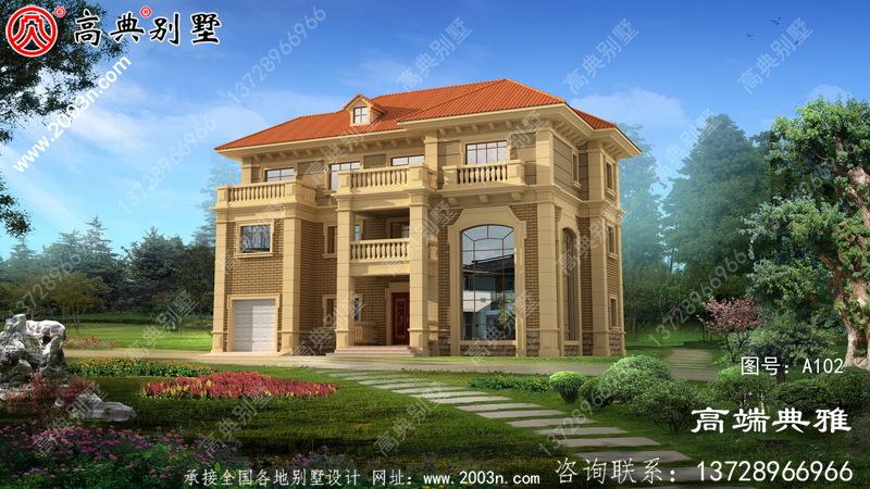 复式欧式三层别墅设计方案合理实用。