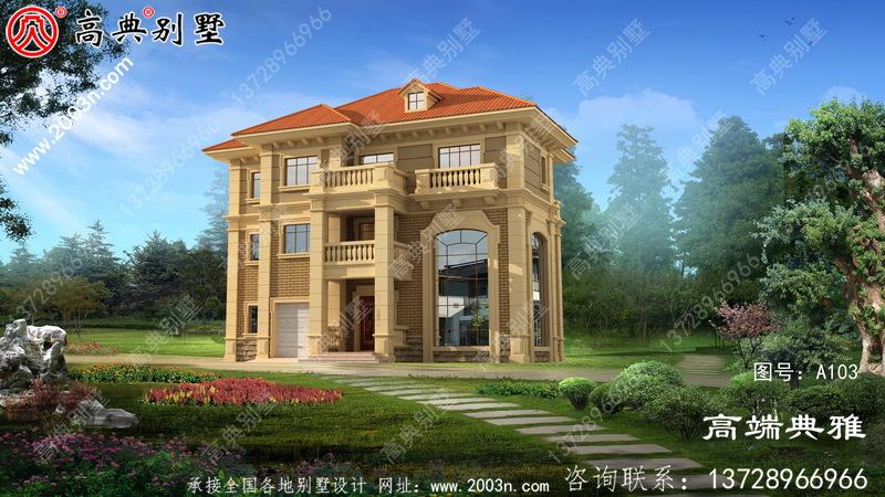 三层别墅设计图纸(含外观效果图),别墅设计方案