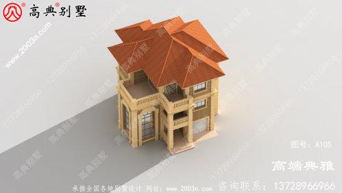 141平方米新农村住宅设计图纸,3层住宅设计