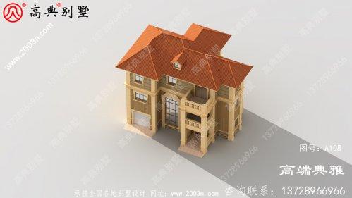 欧式三层别墅建筑设计施工图纸,全套别墅设计