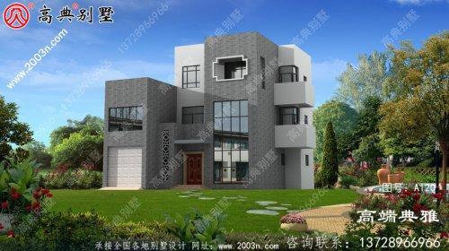 三层奢华现代别墅小复式高档自建房设计图纸