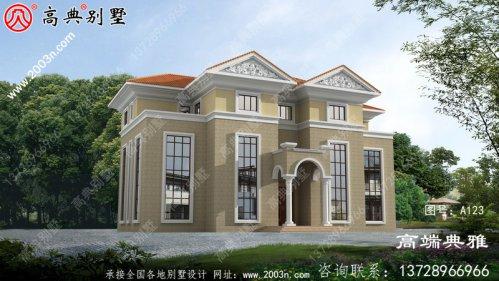 三层豪华欧式别墅复式高端自建设计图纸及效果