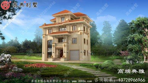 复式是的高级欧式四层别墅设计图纸及效果图