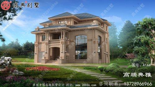 新农村自建推荐的复式设计三层别墅设计图纸