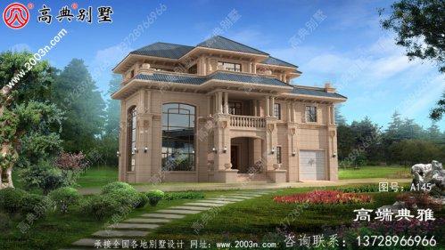 欧式三层别墅设计图纸带车库
