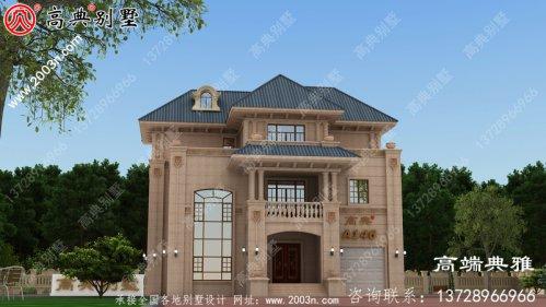 157平米全新升级乡村简欧装修风格三层房子别墅