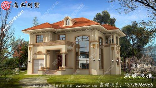 乡村三层别墅CAD建筑设计图,149平方米