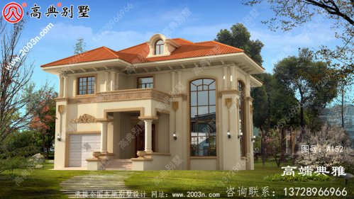 两层欧式别墅设计图带设计效果图和施工图