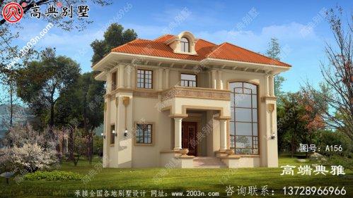 两层欧式别墅带阳台的复式设计工程图纸