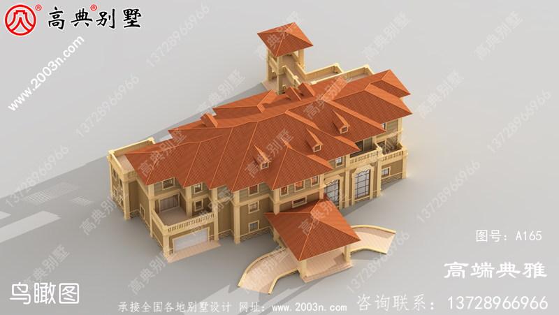 农村自建豪华大户型三层别墅设计图