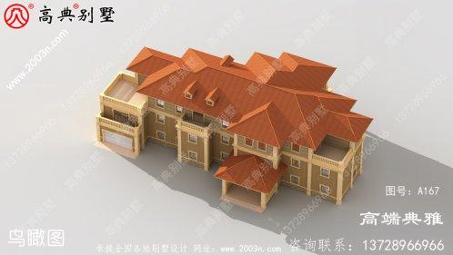 大户型欧式农村三层住宅设计与建筑制图及效果