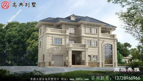 户型方正的新农村三层房屋设计建