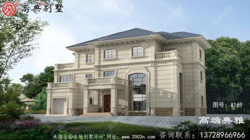 248平方米新农村三层住宅设计图,