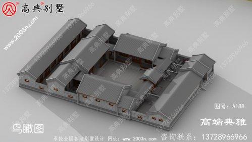 四合院三层住宅设计图(建筑施工