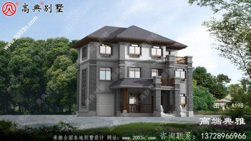 中式三层别墅设计图,高端最新款外观照片美观