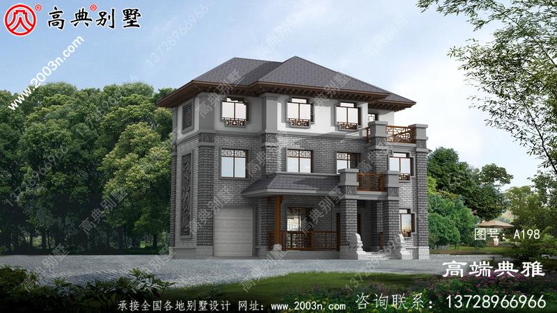 中式三层别墅设计图,高端最新款外观照片美观大方