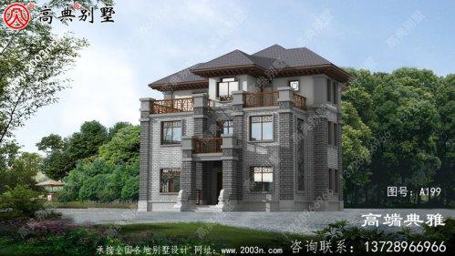 自建中式三层欧式别墅设计,全新