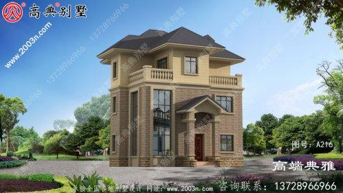 简欧三层独幢别墅设计效果图,客厅复式设计大
