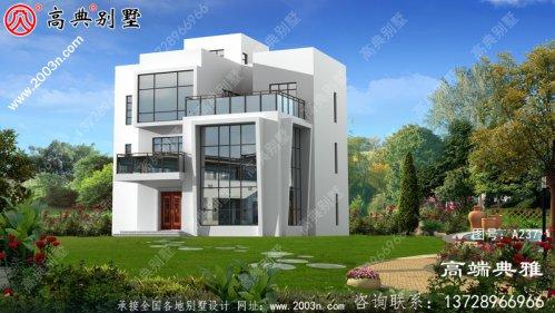 带露台的现代三层别墅可以用别墅外观的图片建