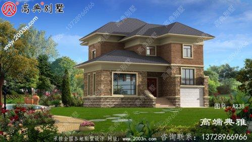 184平方米欧式实用农村双层别墅图