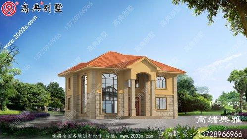 152平方米漂亮实用的农村欧式二层别墅设计图纸