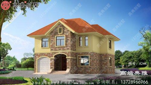 147平方米欧式乡村两层别墅设计纸带外观,精致