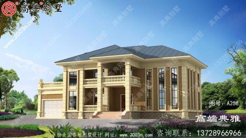 大户型欧式两层别墅设计建筑图纸