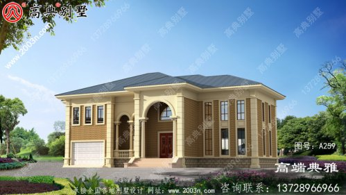建筑面积400平方米的经典新农村别墅设计施工图