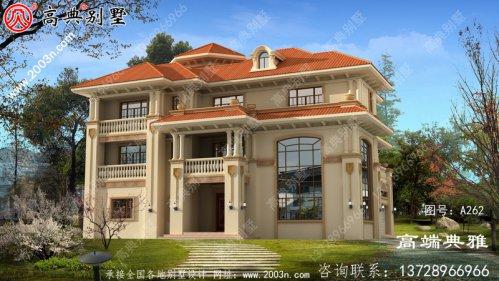 大户型的欧式三层别墅设计图占地234平