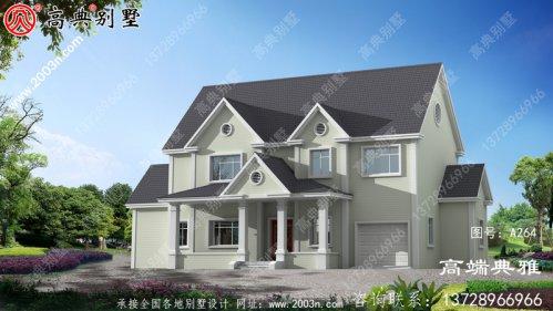 203平方米新农村实用美式两层建筑设计图