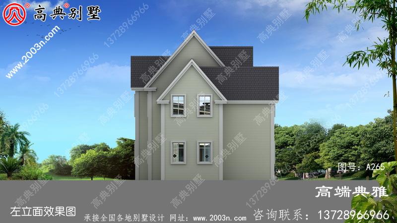 农村实用美观的的美式二层建筑设计图纸带外观图