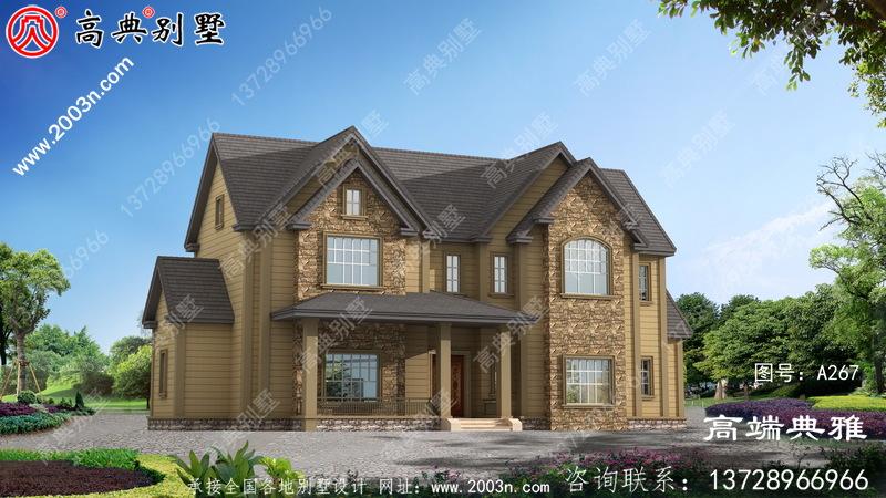 乡村非常漂亮的现代简约双层小楼图,清爽雅致
